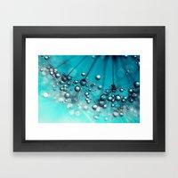 Sea Blue Shower Framed Art Print