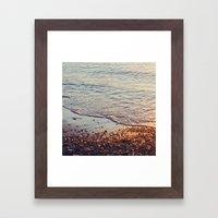 Sparkling sea Framed Art Print
