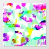 Orva - Bright neon abstract artwork Canvas Print