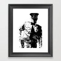 Guard With Gun Framed Art Print