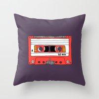 Vintage Mix Tape // Purp… Throw Pillow
