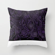Purple ornaments Throw Pillow