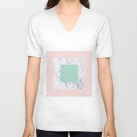 Marble with Pastels /// www.pencilmeinstationery.com Unisex V-Neck
