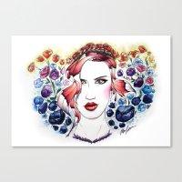 Technicolor Flower Portr… Canvas Print