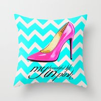 LIFE IN PINK  Throw Pillow