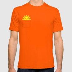 Pocket Full of Sunshine Mens Fitted Tee Orange SMALL