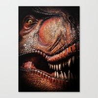 tyrannosaurus rex dinosaur art Canvas Print