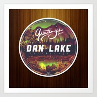 Greetings from Dan Lake CA Art Print