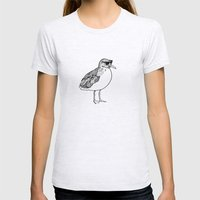 cool Seagull Womens Fitted Tee Ash Grey SMALL