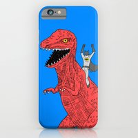 iPhone Cases featuring Dinosaur B Forever by Joe Carr