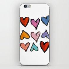 Hearts 2 iPhone & iPod Skin