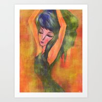 Dancing in Light Art Print