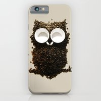 iPhone Cases featuring Hoot! Night Owl! by Marco Angeles