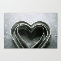 Hearts Together - Vintage Bakeware  Canvas Print