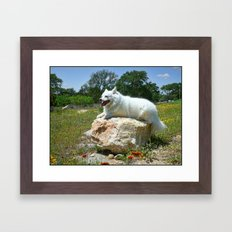 Sylvie Poses in the Texas Wildflowers Framed Art Print