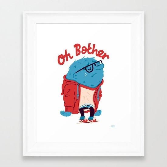 Oh Bother Framed Art Print