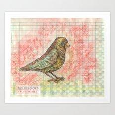 Bird on a Budget Art Print