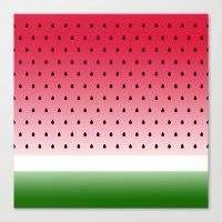 Juicy Watermelon Canvas Print
