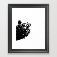 Geeky Bear Framed Art Print