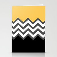 Color Blocked Chevron 6 Stationery Cards