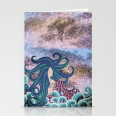 Midnight Blue Mermaid Stationery Cards