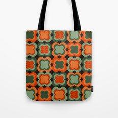 Vintage Color Flower Pattern Tote Bag