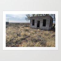 Vacancy Zine - On Route 66 II (Glenrio) Art Print