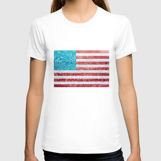 Red, White, and Glitter (Photo of Glitter) T-shirt