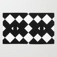 Branting Black & White Pattern Rug