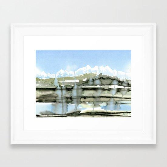Unfreezing Framed Art Print