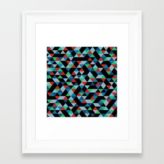 Triangles 4B Framed Art Print