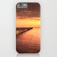 iPhone & iPod Case featuring Sunset/Sundusk over harvor. by LudaNayvelt
