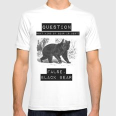 false. black bear SMALL White Mens Fitted Tee