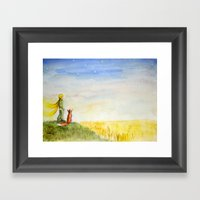 Little Prince, Fox And W… Framed Art Print