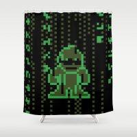 The Pixel Matrix Shower Curtain