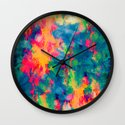 Summer Swirl Wall Clock
