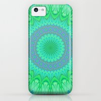 iPhone 5c Cases featuring Crystal mandala by David Zydd