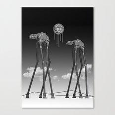 Dali's Mechanical Elephants - Black Sky Canvas Print