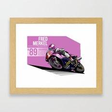 Fred Merkel - 1989 Hungaroring Framed Art Print