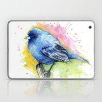 Blue Bird Indigo Bunting Laptop & iPad Skin