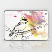 Chickadee in a Splash of Color Laptop & iPad Skin