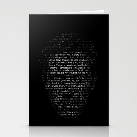 House MD Quotes Print (It's never lupus) Stationery Card