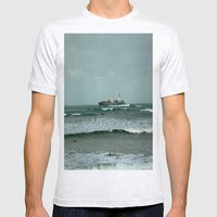 Leistering  Cargo Ship & Surfers Mens Fitted Tee Ash Grey SMALL