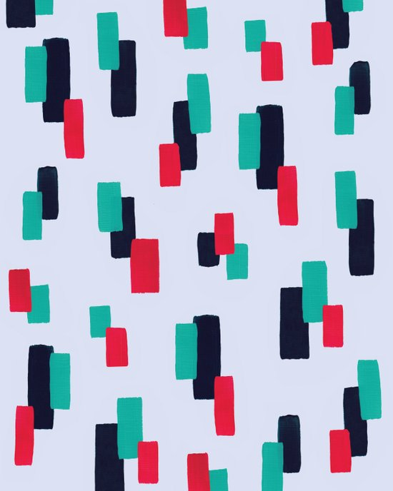 spring stripes Art Print