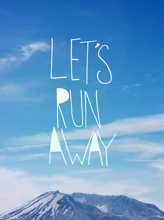 Let's Run Away: Mount Rainier Canvas Print