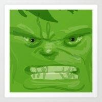 Post it portrait: The Hulk Art Print