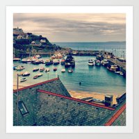 Grey Clouds Above The Fe… Art Print