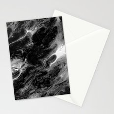 Black and white abstract acrylic painting #2 Stationery Cards
