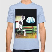 Agoraphobia Mens Fitted Tee Tri-Blue SMALL