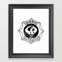 Swimming instructor Framed Art Print